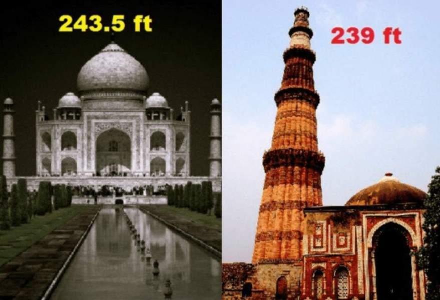 Taj Mahal surpasses the Qutub Minar