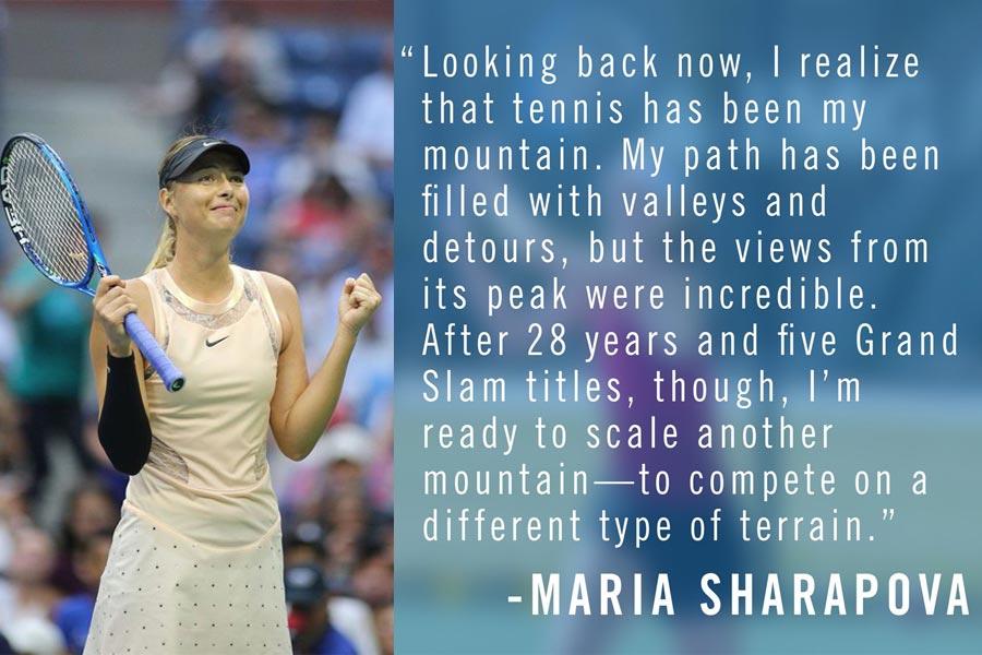 Maria Sharapova Bids Goodbye To Tennis