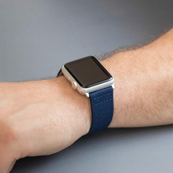 Navy blue watch band with crosses