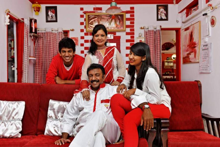 Indian Family Who Loves To Wear Only Red And White Clothes