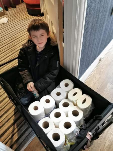 Jimmy Dean Hudson spent his pocket money to deliver toilet rolls