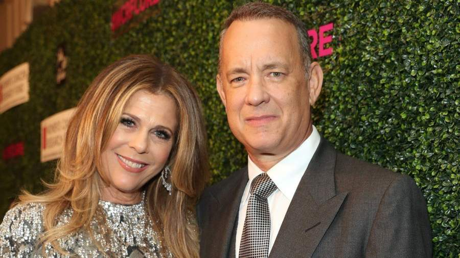 Tom Hanks and Rita Wilson lfie
