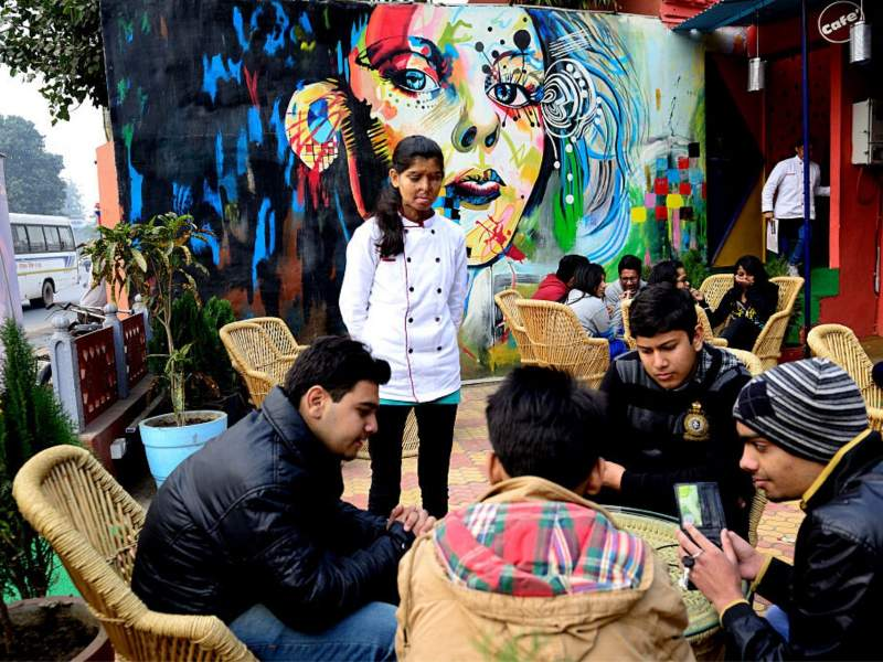 Visit a special cafe in Agra