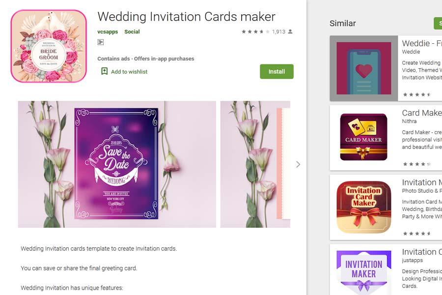 VCSAPPS invitation cards maker