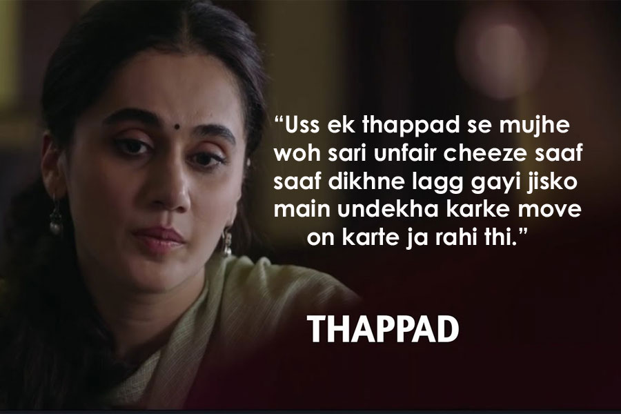 Thappad Movie Dialogues