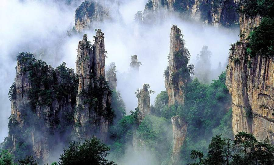 The Tianzi Mountains