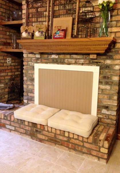 Cover the fireplace