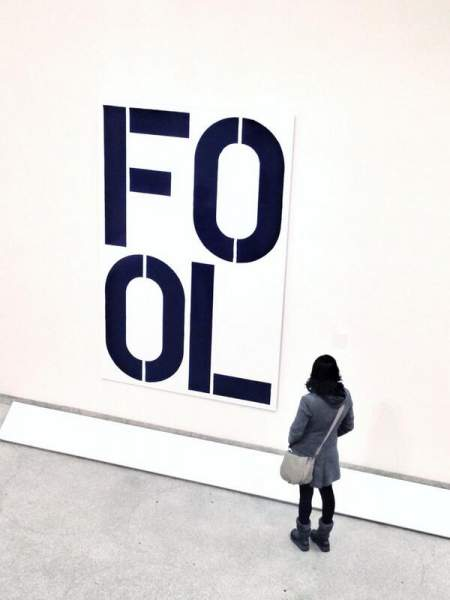 ​Blue Fool by Christopher Wool