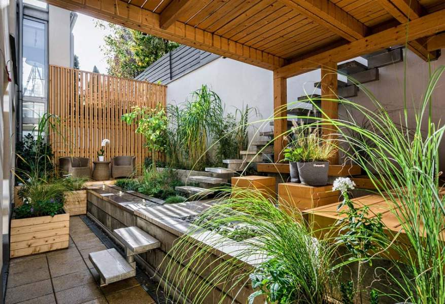 Organize the terrace