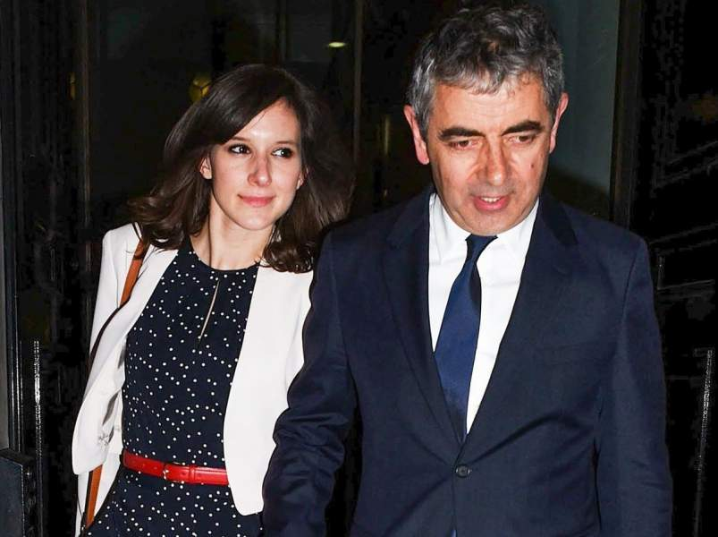 Rowan Atkinson with Louise Ford