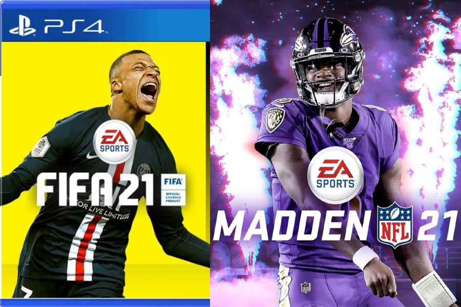 EA Games FIFA 21 and Madden 21
