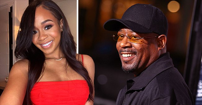 Jasmine Page Lawrence with father Martin Lawrence