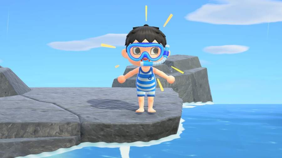 Animal Crossing get a wet suit
