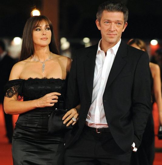 Vincent Cassel with ex wife Monica Bellucci