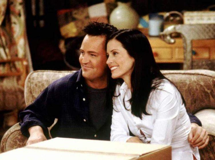 Chandler Bing and Monica Geller in Friends