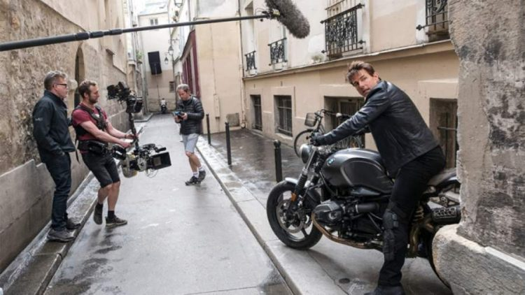 Mission Impossible 7 Motorcycle Stunt