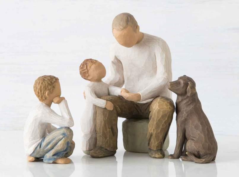 Grandpa- Grandchild Sculpted Figure