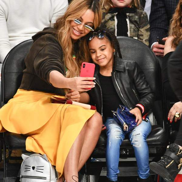 Blue Ivy with mom Beyonce
