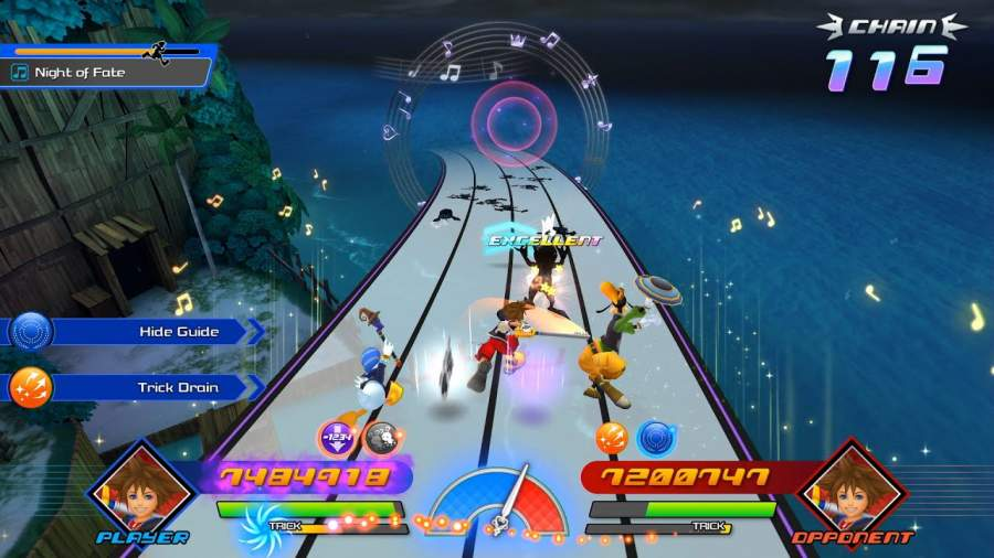 Kingdom Hearts Melody of Memory gameplay