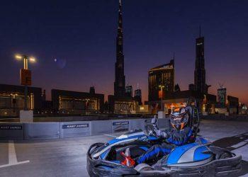 Dubai Mall's Rooftop Electric Kart Racing