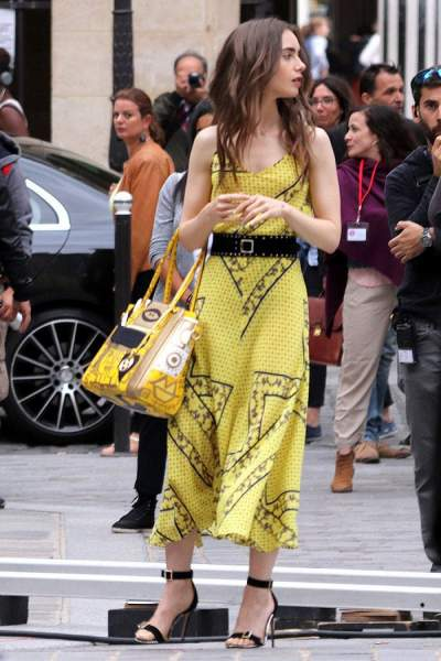 Yellow Ganni dress