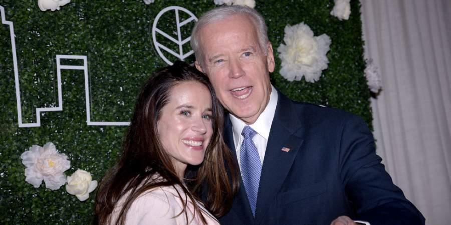 Ashley Biden and father Joe Biden