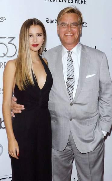 Aaron Sorkin with daughter Roxy Sorkin