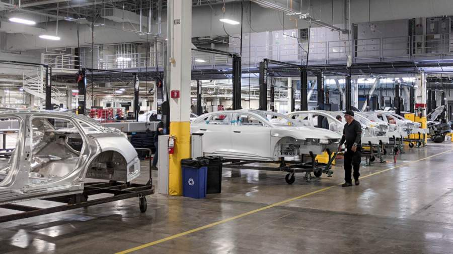 Lucid motors electric car factory