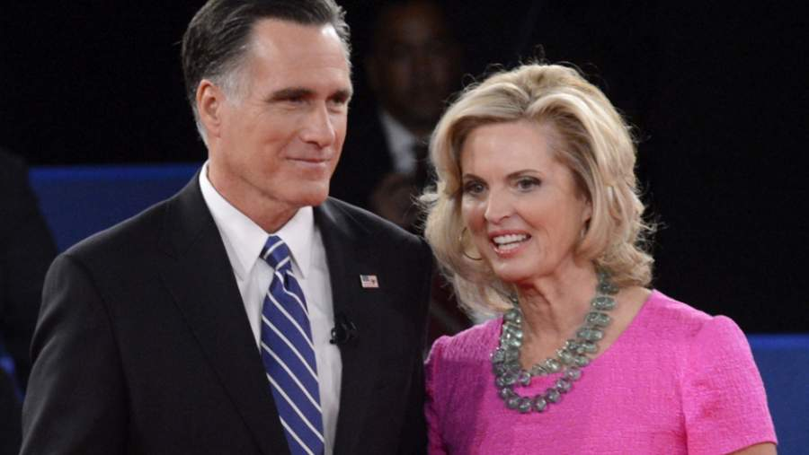 Mitt Romney with wife Ann Romney