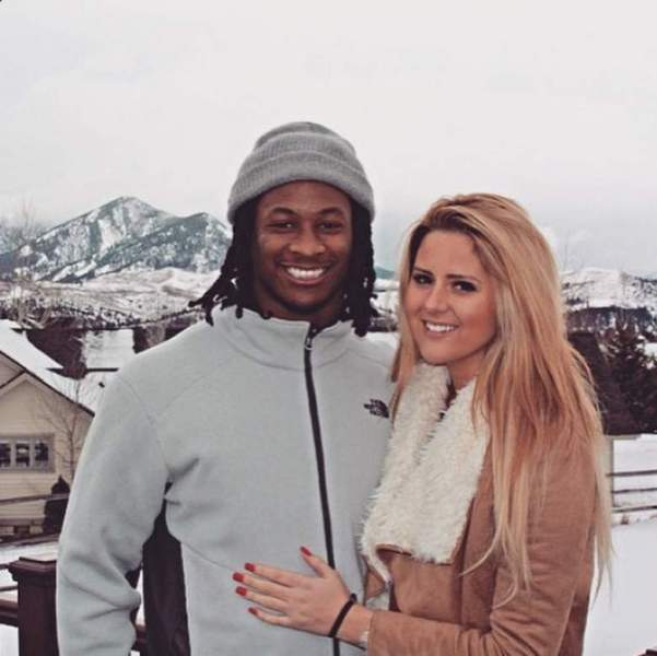 Todd Gurley with girlfriend Olivia Davidson