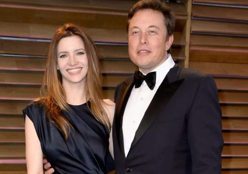 Elon Musk with wife Talulah Riley