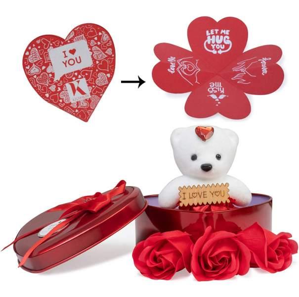 Next Bazaar Artificial Heart Shape Box And Teddy