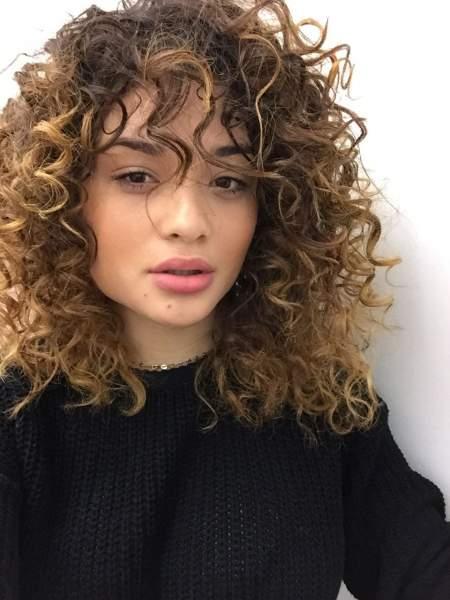 Curls and bangs