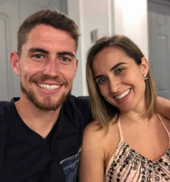 Jorginho and wife Natalia Leteri