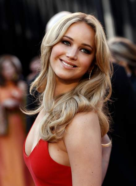 Jennifer Lawrence - Round Face Shape