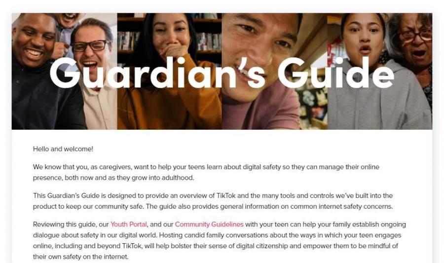 TikTok guardian guide