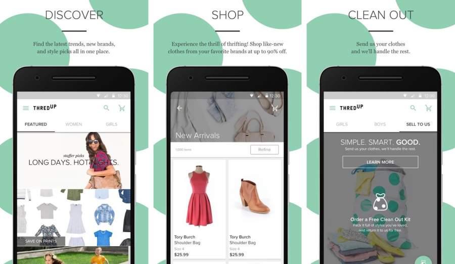 Thredup Second-Hand Shopping app