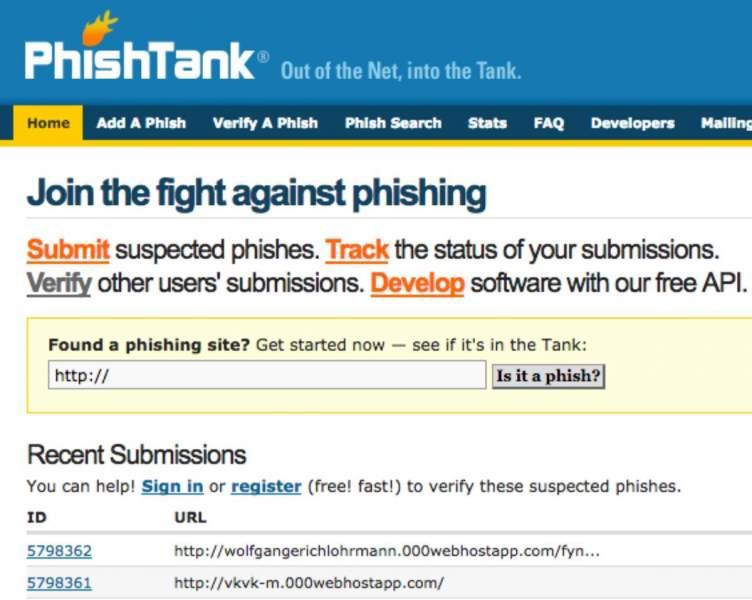 Phishtank fight against Phishing