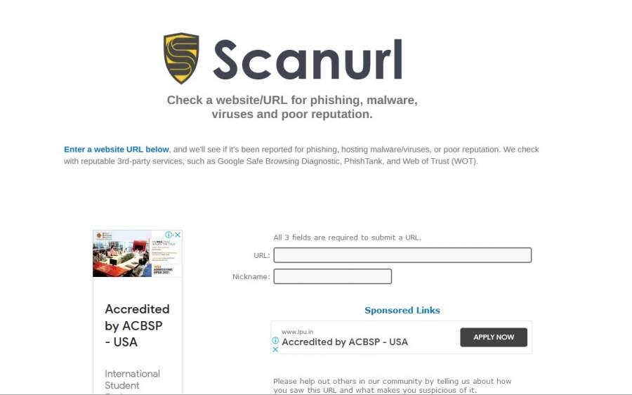 Scanurl Check Website for Viruses