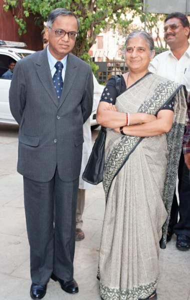 Neeru Deshpande with husband Narayan Murthy
