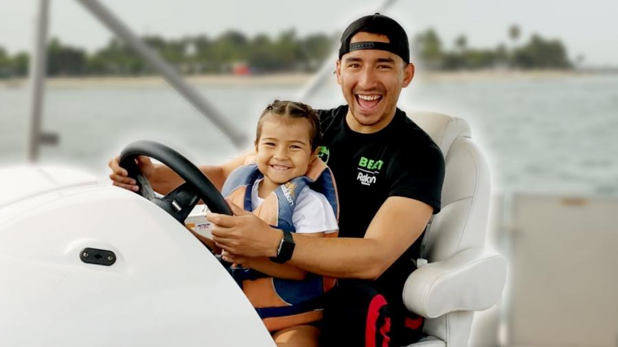 Sienna Casas with father
