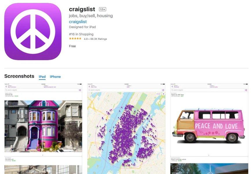 Craigslist iOS app