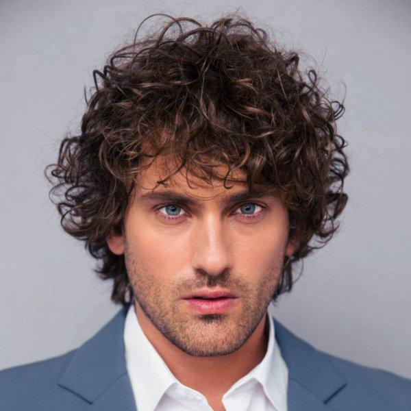 Long Curly Hair Hairstyle men