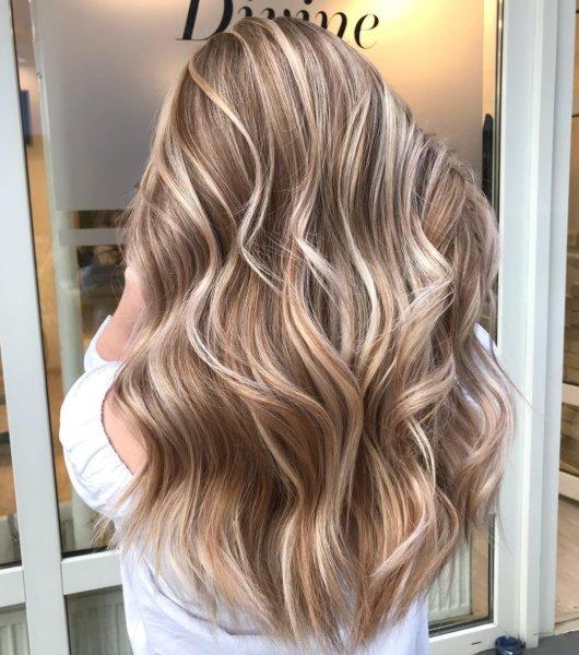 Light Brown Hair with Blonde Streaks