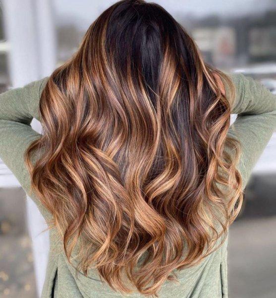 Ombre Highlights Light Brown Hair