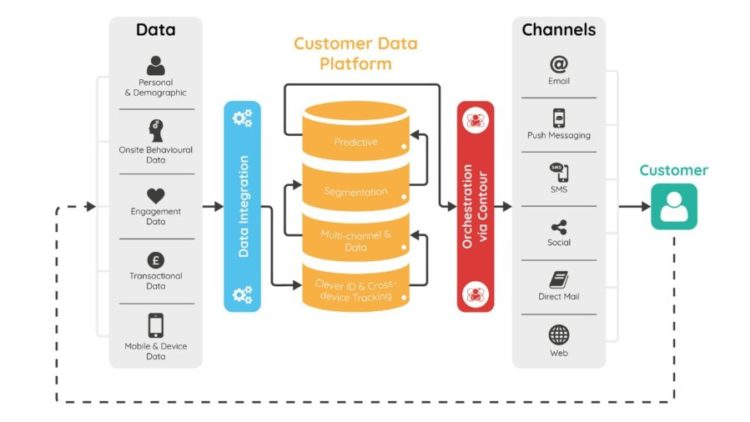 How does the Customer Data Platform relate to the Business Data
