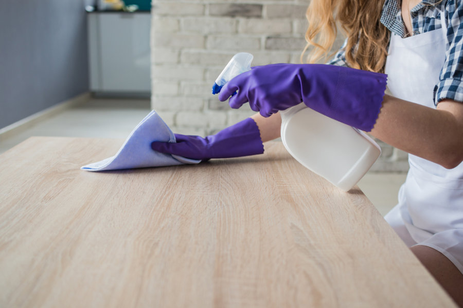 Clean and examine the furniture