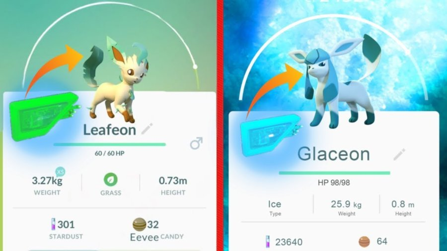 Evolve Eevee into different forms