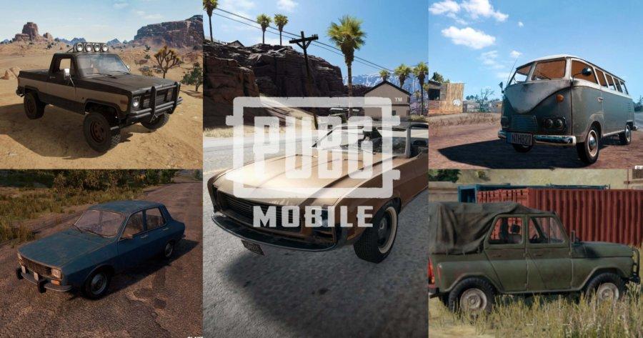 Vehicles in PUBG