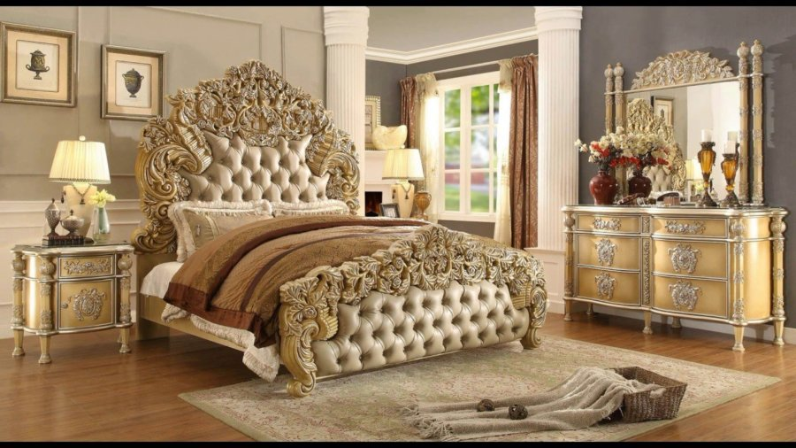 Touch of Gold Splash in Apartment Bedroom